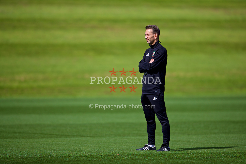 CARDIFF, WALES - Friday, September 7, 2018: Wales' assistant coach Albert Stuivenberg during a training session at the Vale Resort ahead of the UEFA Nations League Group Stage League B Group 4 match between Denmark and Wales. (Pic by David Rawcliffe/Propaganda)