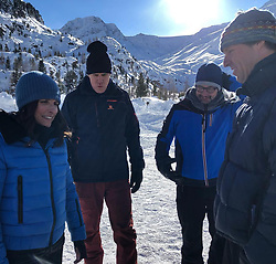 """Julia Louis-Dreyfus releases a photo on Instagram with the following caption: """"Today was insanely cold but over the top fun with these nut jobs. @downhill_movie @jimrash #natfaxon #willferrell"""". Photo Credit: Instagram *** No USA Distribution *** For Editorial Use Only *** Not to be Published in Books or Photo Books ***  Please note: Fees charged by the agency are for the agency's services only, and do not, nor are they intended to, convey to the user any ownership of Copyright or License in the material. The agency does not claim any ownership including but not limited to Copyright or License in the attached material. By publishing this material you expressly agree to indemnify and to hold the agency and its directors, shareholders and employees harmless from any loss, claims, damages, demands, expenses (including legal fees), or any causes of action or allegation against the agency arising out of or connected in any way with publication of the material."""