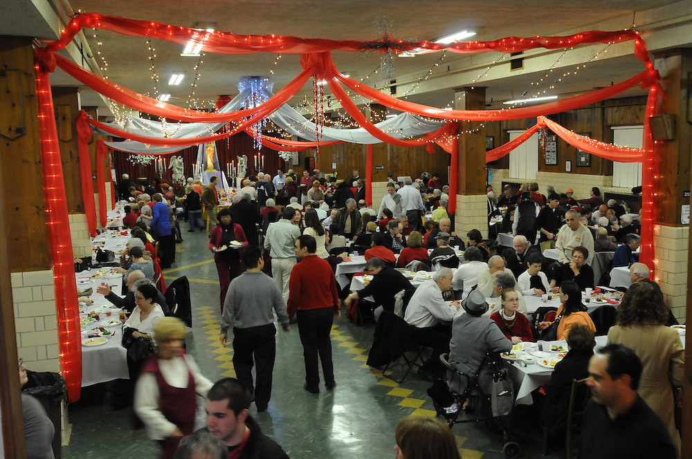 Parishioners at Our Lady of Pompeii Catholic Church in Chicago's Tri-Taylor neighborhood celebrate St. Joseph's Bountiful Table. The annual Italian feast commemorates the end of drought and famine following the prayers of hungry Sicilians to Saint Joseph the Protector.