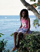 Seaview and Girl -  Goldeneye - Jamaica