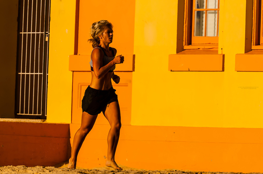 Jogging, Manly Beach, Sydney, New South Wales, Australia