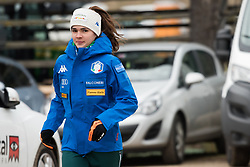 February 8, 2019 - Lara Malsiner of Italy warming up before first competition day of the FIS Ski Jumping World Cup Ladies Ljubno on February 8, 2019 in Ljubno, Slovenia. (Credit Image: © Rok Rakun/Pacific Press via ZUMA Wire)