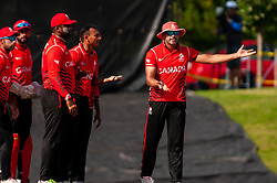 September 22, 2018 - Morrisville, North Carolina, US - Sept. 22, 2018 - Morrisville N.C., USA - Team Canada makes an appeal during the ICC World T20 America's ''A'' Qualifier cricket match between USA and Canada. Both teams played to a 140/8 tie with Canada winning the Super Over for the overall win. In addition to USA and Canada, the ICC World T20 America's ''A'' Qualifier also features Belize and Panama in the six-day tournament that ends Sept. 26. (Credit Image: © Timothy L. Hale/ZUMA Wire)