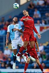 BLACKBURN, ENGLAND - Thursday, July 19, 2018: Liverpool's Virgil van Dijk during a preseason friendly match between Blackburn Rovers FC and Liverpool FC at Ewood Park. (Pic by David Rawcliffe/Propaganda)