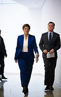 DEU, Deutschland, Germany, Berlin, 10.02.2020: Pressekonferenz der CDU im Konrad-Adenauer-Haus. CDU-Parteichefin Annegret Kramp-Karrenbauer gab ihren Rücktritt als CDU-Parteivorsitzende bekannt.