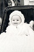 happy baby in a stroller ca 1960s