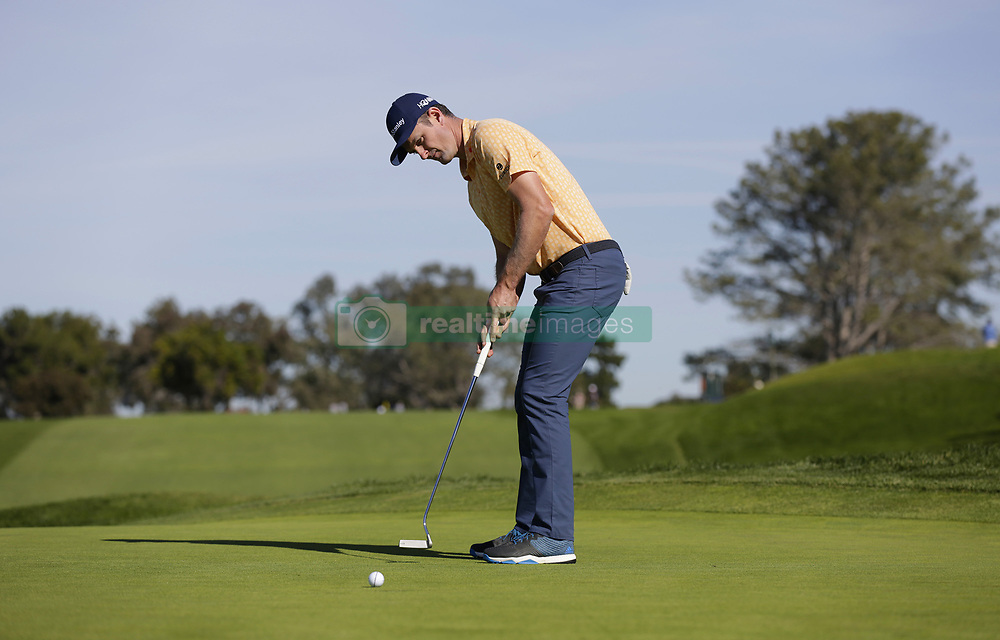 January 27, 2019 - San Diego, CA, USA - Justin Rose putts on the 2nd hole during the fourth round of the Farmers Insurance Open at the Torrey Pines Golf Course in San Diego on Sunday, Jan. 27, 2019. (Credit Image: © K.C. Alfred/San Diego Union-Tribune/TNS via ZUMA Wire)