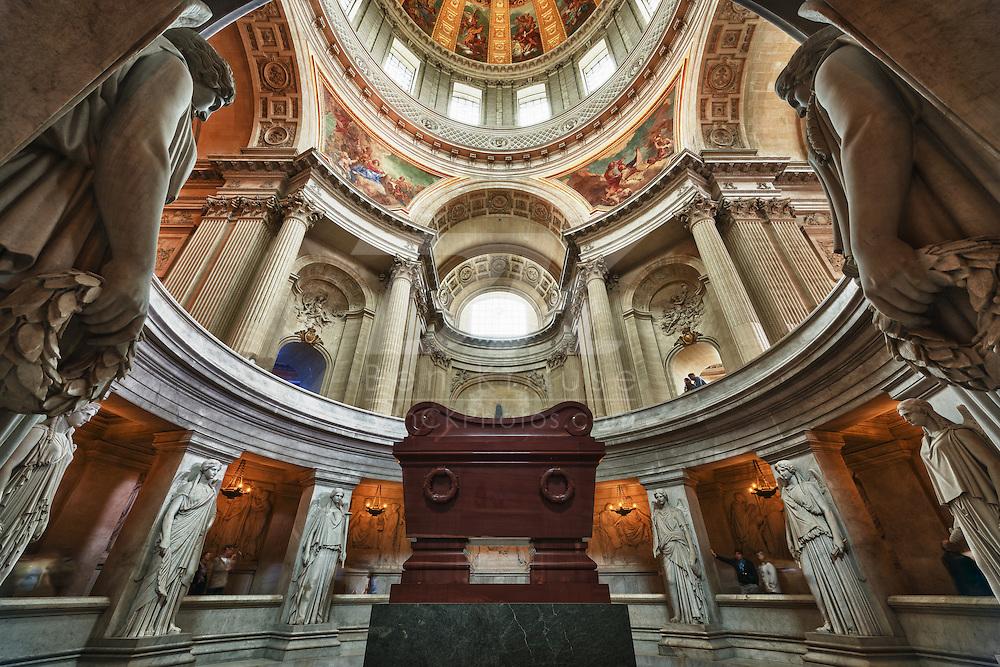 This is the final resting place of Napoléon I at Les Invalides in Paris, France on May 19, 2012.