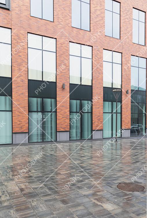 Facade of a modern building with windows
