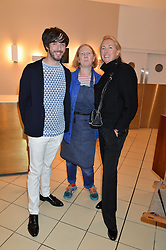Left to right, OISIN BYRNE, MARGOT HENDERSON and TIGGY KENNEDY at a party to celebrate the launch of Conran Italia at The Conran Shop, Michelin House, 81 Fulham Road, London on 19th March 2015.