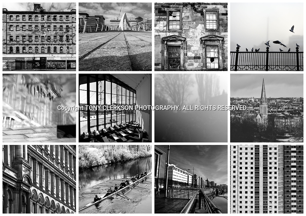 Collage of multiple images of Glasgow