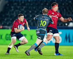 Andrew Conway of Munster <br /> <br /> Photographer Simon King/Replay Images<br /> <br /> European Rugby Champions Cup Round 1 - Ospreys v Munster - Saturday 16th November 2019 - Liberty Stadium - Swansea<br /> <br /> World Copyright © Replay Images . All rights reserved. info@replayimages.co.uk - http://replayimages.co.uk