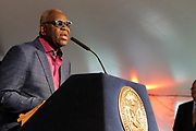 New York, New York, NY-August 31: Cultural Producer Voza Rivers attends the celebration of Harlem Week 2017 themed with a salute to ' Harlem: Home of Immigrants' honoring New York's International Diversity held at Gracie Mansion on August 3, 2017 in New York City. (Photo by Terrence Jennings/terrencejennings.com)