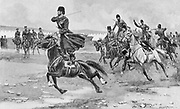 Russo-Japanese War 1904-1905:  Russian Cossacks at drill.