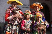 Indigenous women and children  Cusco, Peru
