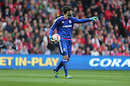 Middlesbrough FC Goalkeeper Dimitrios Konstantopoulos during the Sky Bet Championship match between Middlesbrough and Brighton and Hove Albion at the Riverside Stadium, Middlesbrough, England on 7 May 2016.