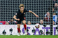 Tin Jedvaj (Croatia) gets the ball away from goal during the UEFA Nations League match between England and Croatia at Wembley Stadium, London, England on 18 November 2018.