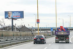 March 28, 2019 - Koscie, Slovakia - Robert Mistrik electoral campaign billboard is seen in Koscie Slovakia on 28 March 2019 2nd, final round of the Presidential elections in Slovakia will be held on 30th of March 2019  (Credit Image: © Michal Fludra/NurPhoto via ZUMA Press)