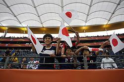 13.07.2011, Commerzbank Arena, Frankfurt, GER, FIFA Women Worldcup 2011, Halbfinale,  Japan (JPN) vs. Schweden (SWE), im Bild Japanische junge Fans freuen sich.. // during the FIFA Women´s Worldcup 2011, Semifinal, Japan vs Sweden on 2011/07/13, Commerzbank Arena, Frankfurt, Germany.   EXPA Pictures © 2011, PhotoCredit: EXPA/ nph/  Mueller       ****** out of GER / CRO  / BEL ******