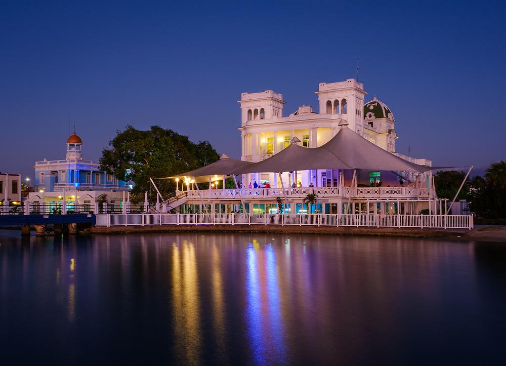 CIENFUEGOS, CUBA - CIRCA JANUARY 2020: View of the Club and Marina of Cienfuegos