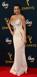 September 18, 2016 - Los Angeles, California, United States - Sofia Vergara arrives at the 68th Annual Emmy Awards at the Microsoft Theater in Los Angeles, California on Sunday, September 18, 2016. (Credit Image: © Michael Owen Baker/Los Angeles Daily News via ZUMA Wire)
