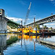 Quigg Bros, Inc. University Bridge fender replacement project, Seattle, WA USA