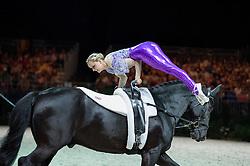 Joanne Eccles, (GBR), WH Bentley, John Eccles - Individuals Women Final Vaulting - Alltech FEI World Equestrian Games™ 2014 - Normandy, France.<br /> © Hippo Foto Team - Jon Stroud<br /> 05/09/2014