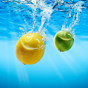 Smiling Lemon and Lime falling into water Ray Massey is an established, award winning, UK professional  photographer, shooting creative advertising and editorial images from his stunning studio in a converted church in Camden Town, London NW1. Ray Massey specialises in drinks and liquids, still life and hands, product, gymnastics, special effects (sfx) and location photography. He is particularly known for dynamic high speed action shots of pours, bubbles, splashes and explosions in beers, champagnes, sodas, cocktails and beverages of all descriptions, as well as perfumes, paint, ink, water – even ice! Ray Massey works throughout the world with advertising agencies, designers, design groups, PR companies and directly with clients. He regularly manages the entire creative process, including post-production composition, manipulation and retouching, working with his team of retouchers to produce final images ready for publication.