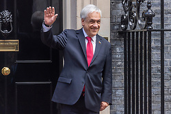© Licensed to London News Pictures. 10/09/2021. London, UK. President of Chile SEBASTIAN PINERA leaves Downing Street after attending a meeting with British Prime Minister Boris Johnson. Photo credit: Ray Tang/LNP