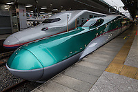 """Shinkansen Bullet Train - Japan's main island of Honshu is covered by a network of high speed train lines that connect Tokyo with most of the island's major cities. Japan's """"bullet trains"""" are officially called the """"shinkansen"""" short for New Kansai Line and are operated by Japan Railways or JR."""