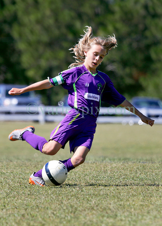 18 October 2015. Gulfport, Mississippi.<br /> New Orleans Jesters Youth Academy.<br /> U11 Jesters Team Purple 2 - FC United Barcelona 2.  Tough game against great opposition.<br /> Photo©; Charlie Varley/varleypix.com
