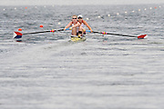 Lucerne, SWITZERLAND, USA W2- Bow Lindsay SHOOP and Caroline LIND, move away from the start, of the third round of the  2009 FISA World Cup,  on the Rottsee regatta Course, Friday  10/07/2009 [Mandatory Credit Peter Spurrier/ Intersport Images]