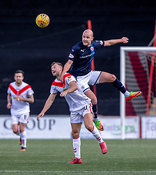 Airdrie's Dale Carrick and Raith Rovers Grant Gillespie. Airdrie 3 v 4 Raith Rovers, Scottish Football League Division One played 25/8/2018 at the Excelsior Stadium.