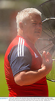 31 May 2013; British & Irish Lions head coach Warren Gatland during the captain's run ahead of their game against Barbarian FC on Saturday. British & Irish Lions Tour 2013, Squad Captain's Run, Aberdeen Sports Ground, Aberdeen, Hong Kong, China. Picture credit: Stephen McCarthy / SPORTSFILE