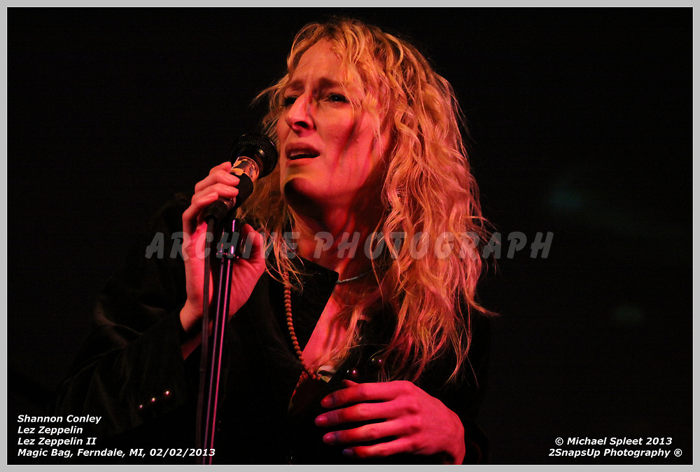 FERNDALE, MI, SATURDAY, FEB. 02, 2013: Lez Zeppelin, Led Zeppelin II Shannon Conley at Magic Bag, Ferndale, MI, 02/02/2013.  (Image Credit: Michael Spleet / 2SnapsUp Photography)