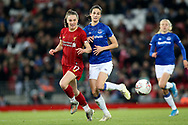 Liverpool women forward Niamh Charles (17) and Everton women midfielder Abbey-Leigh Stringer (13)  during the FA Women's Super League match between Liverpool Women and Everton Women at Anfield, Liverpool, England on 17 November 2019.