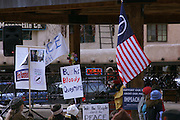 Antiwar protest in Taos, New Mexico