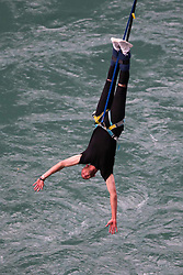 EXCLUSIVE: After Test series defeats to Australia and New Zealand this winter, England's cricketers are used to being in freefall. But star bowler Stuart Broad, batsman James Vince and squad member Ben Foakes at least found one to rebound when they stopped off in Queenstown, New Zealand, on the way home to enjoy a bungy jump. The three players went on holiday right after the final Test match of the tour finished and visited the world's first commercial bungy bridge, 43 metres above the Kawarau river. 05 Apr 2018 Pictured: Stuart Broad, James Vince, Ben Foakes. Photo credit: James Allan / MEGA TheMegaAgency.com +1 888 505 6342