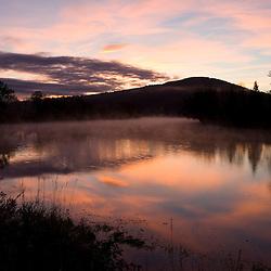 Dawn over the Connecticut River in Lunenburg, Vermont.