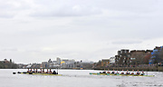 Putney, London, University Boat Race, [Oxford left] both crews racing towards Hammersmith during the 156th Race, on the Championship Course Putney to Hammersmith  Saturday  03/04/2010 [Mandatory Credit Peter Spurrier/ Intersport Images]