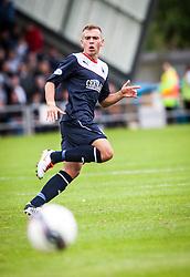 Falkirk's Kyle Turnbull.<br /> Dumbarton 1 v 1 Falkirk, Scottish Championship 10/8/2013.<br /> ©Michael Schofield.