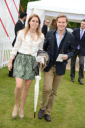 HRH PRINCESS BEATRICE OF YORK and DAVE CLARK and at the 2013 Cartier Queens Cup Polo at Guards Polo Club, Berkshire on 16th June 2013.
