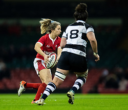 Elinor Snowsill of Wales<br /> <br /> Photographer Simon King/Replay Images<br /> <br /> Friendly - Wales v Barbarians - Saturday 30th November 2019 - Principality Stadium - Cardiff<br /> <br /> World Copyright © Replay Images . All rights reserved. info@replayimages.co.uk - http://replayimages.co.uk