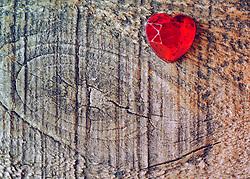 July 5, 2015 - Love for Valentine's day: a red glass heart on wooden background (Credit Image: © Igor Golovniov/ZUMA Wire/ZUMAPRESS.com)