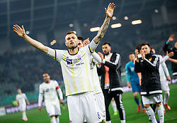 Alexandru Cretu of Maribor celebrates after Football match between NK Olimpija and NK Maribor in 23rd Round of Prva liga Telekom Slovenije 2018/19 on March 16, 2019, in SRC Stozice, Ljubljana, Slovenia. Photo by Vid Ponikvar / Sportida