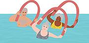 Seniors in Water Aerobics Class