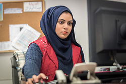 27 February 2020, Ramallah, Palestine: 21-year-old Rana Jihad Qoud from Abu Qash near Ramallah works at Al-Takafel Insurance after graduating from her studies at the Lutheran World Federation Vocational Training Centre in Ramallah, where she trained to be a business secretary.