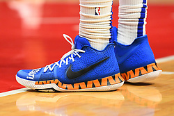 January 28, 2019 - Los Angeles, CA, U.S. - LOS ANGELES, CA - JANUARY 28: Los Angeles Clippers Center Montrezl Harrell (5) shoes during a NBA game between the Atlanta Hawks and the Los Angeles Clippers on January 28, 2019 at STAPLES Center in Los Angeles, CA. (Photo by Brian Rothmuller/Icon Sportswire) (Credit Image: © Brian Rothmuller/Icon SMI via ZUMA Press)