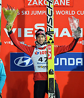Hopp , 19. januar 2014 , WC Zakopane ZAKOPANE,POLEN,19.JAN.14 - SKI NORDISCH, SKISPRINGEN - FIS Weltcup der Herren, Siegerehrung. Anders Bardal (NOR) <br /> <br /> Norway only