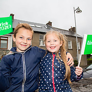 08.06.2016        <br /> Stepping out to support the Limerick 2020 Bid and to watch Scotty Knemeyer's spectacular flyboard show over the River Shannon at Clancy Strand were, Lorenss (8) and Rebeka (5) Antonovics, Farnshone Limerick. Picture: Alan Place